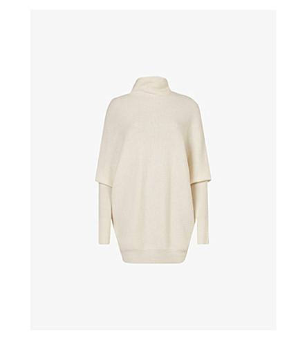 ALLSAINTS 羊毛和羊绒混纺毛衣 (粉笔 + 白