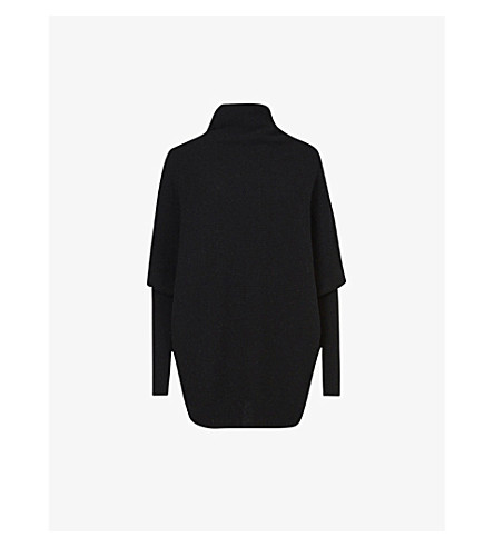 ALLSAINTS Ridley wool and cashmere-blend jumper (Cinder+black+m