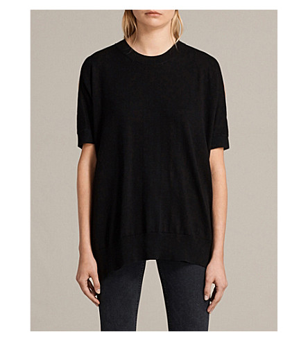 ALLSAINTS Reya knitted jumper (Black