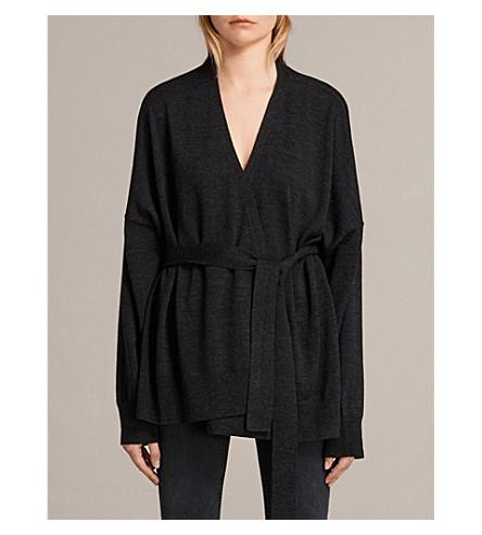 ALLSAINTS Inaya merino wool cardigan (Cinder+black+m
