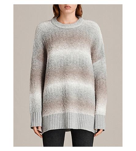 ALLSAINTS Ikarus oversized wool-blend jumper (Taupe+marl