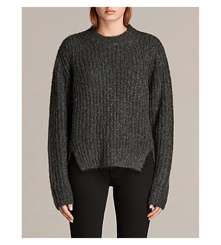 ALLSAINTS Klash cropped knitted jumper (Cinder+black+m