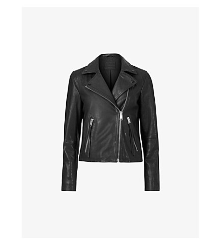 ALLSAINTS Dalby leather biker jacket (Black