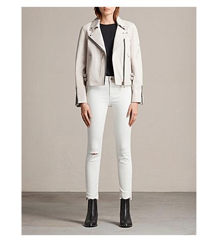 ALLSAINTS Prescott leather biker jacket (Aries+white