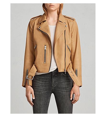 ALLSAINTS Balfern leather biker jacket (Butterscotch