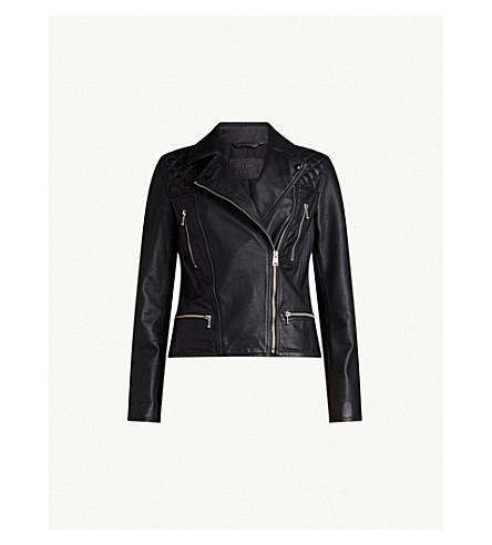 ALLSAINTS Kelham leather jacket (Black