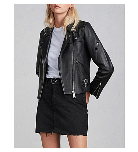 ALLSAINTS Prescott leather jacket (Black