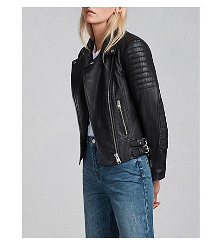 ALLSAINTS Papin leather biker jacket (Black