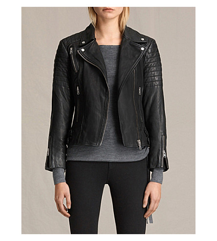 ALLSAINTS Papin leather biker jacket (Black