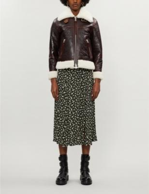 Elder oversized collared shearling jacket