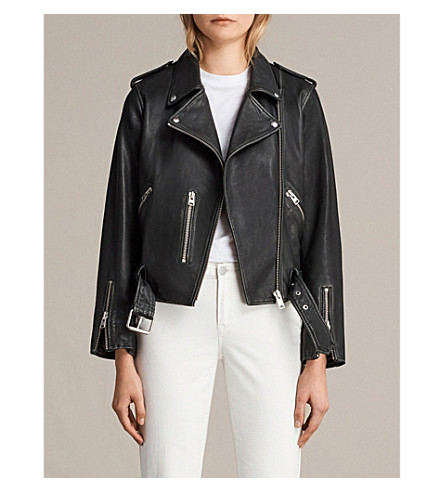 ALLSAINTS Balfern vintage-leather jacket (Black