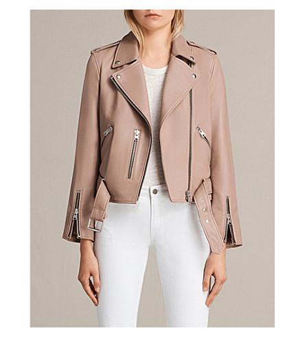 ALLSAINTS Balfern leather biker jacket (Blush+pink