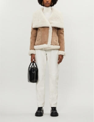 Harlow oversized-fit shearling jacket