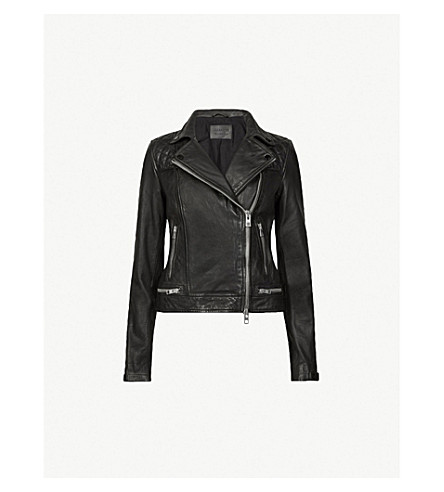 ALLSAINTS Conroy leather biker jacket (Ink
