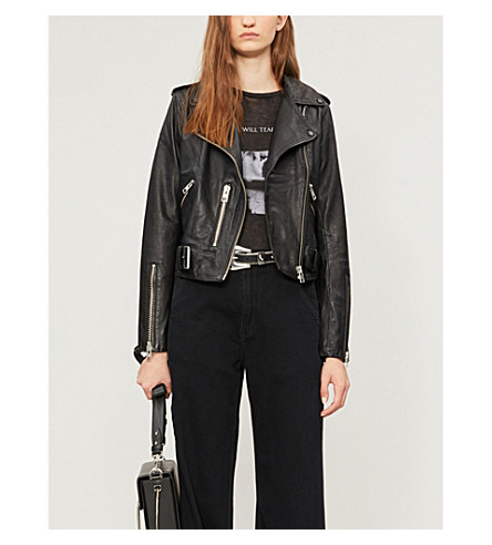 ALLSAINTS Balfern leather biker jacket (Black