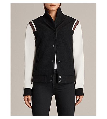 ALLSAINTS Bordin wool jacket (Black/oyster+w