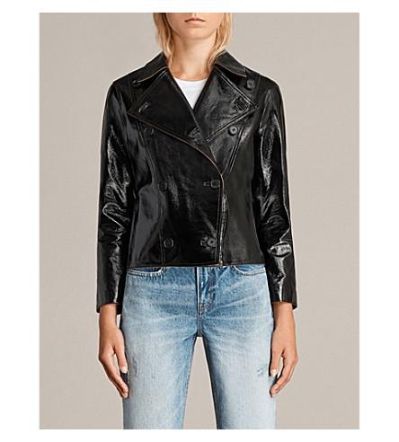 ALLSAINTS Deebee Payton patent-leather blazer (Black