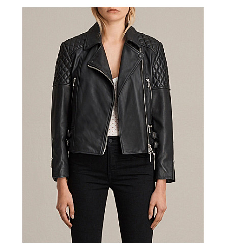 ALLSAINTS Ainsdale leather biker jacket (Black