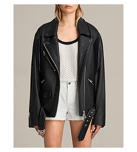 ALLSAINTS Trevett leather jacket (Black