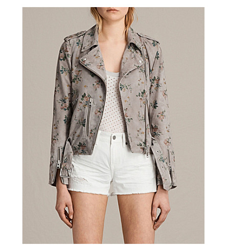 ALLSAINTS Meadow Balfern leather jacket (Grey