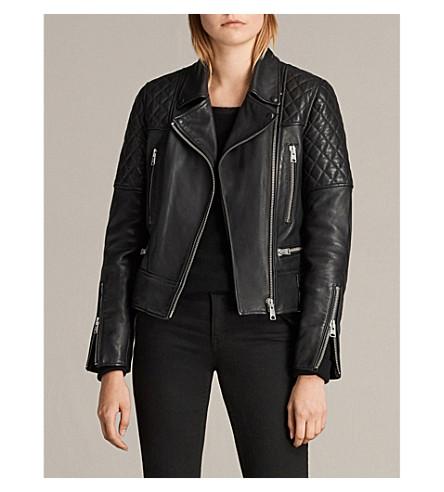ALLSAINTS Esher leather jacket (Black