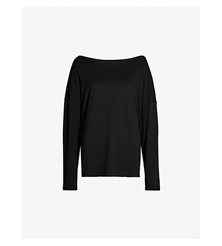 ALLSAINTS Rita long sleeved jersey top (Black