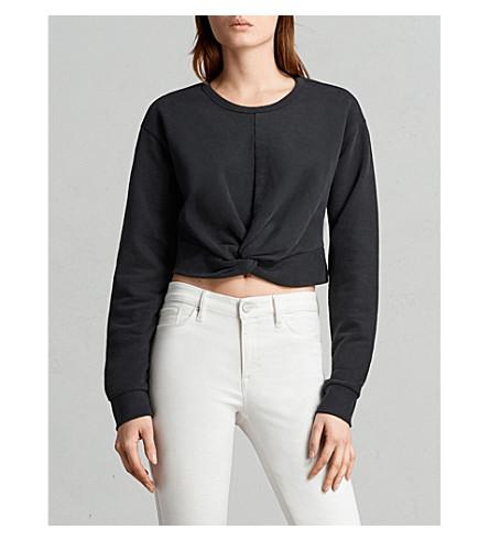 ALLSAINTS Paloma cropped sweatshirt Black Nicekicks Cheap Price Cheapest Price For Sale LC7C63x19