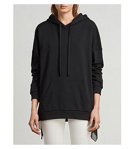 ALLSAINTS Eva cotton hoody (Black/black