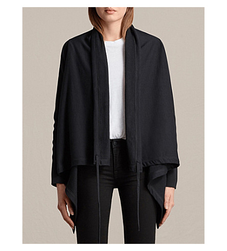 ALLSAINTS Ivy cotton-jersey cardigan (Black