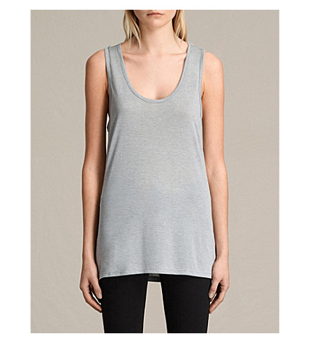ALLSAINTS Malin vest top (Grey+marl