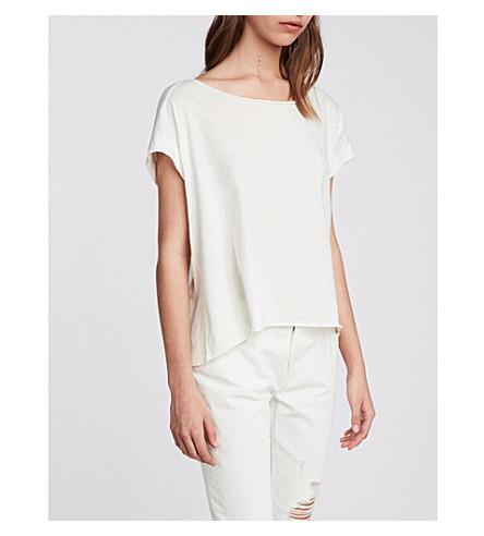 ALLSAINTS 平纹针织棉 T 恤 (粉笔 + 白