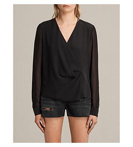 ALLSAINTS Nile silk top (Black