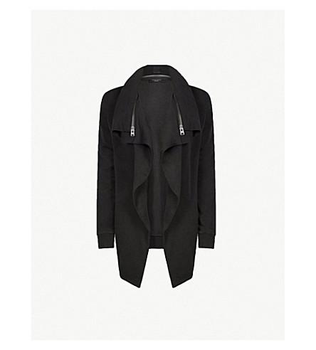 ALLSAINTS Dahlia jersey sweatshirt (Black