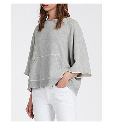 ALLSAINTS Milla stretch-cotton sweatshirt (Grey+marl