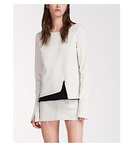 ALLSAINTS Pelo 平纹针织棉卫衣 (象牙 + 白