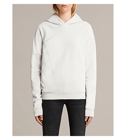ALLSAINTS Pearl cotton hoody (Ivory+white