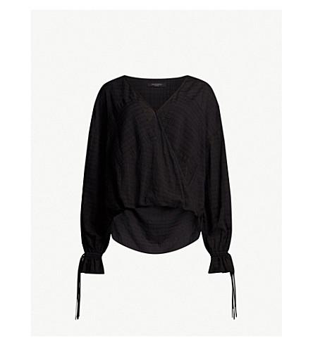 ALLSAINTS Penny cotton-blend top (Black