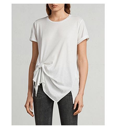 ALLSAINTS 海滨 Devo 平纹针织棉 T 恤 (烟雾 + 白色