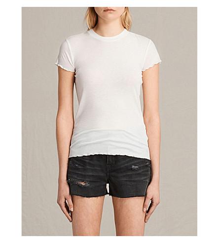 ALLSAINTS Bea jersey T-shirt (Chalk+white