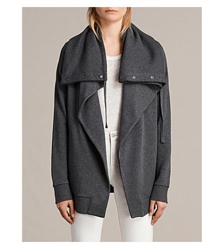 ALLSAINTS Brooke cotton-blend jersey jacket (Cinder