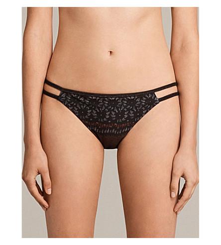 ALLSAINTS Cassia Anokhi bikini bottoms (Auburn+brown