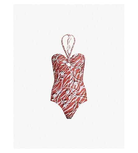 ALLSAINTS Aari Kazuno knotted-tie swimsuit (Red