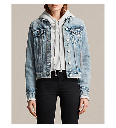 ALLSAINTS Hay denim jacket (Indigo+blue