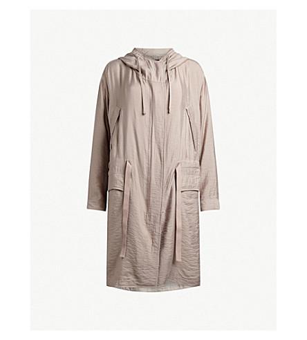 ALLSAINTS Kinsley woven parka coat (Dusty+pink
