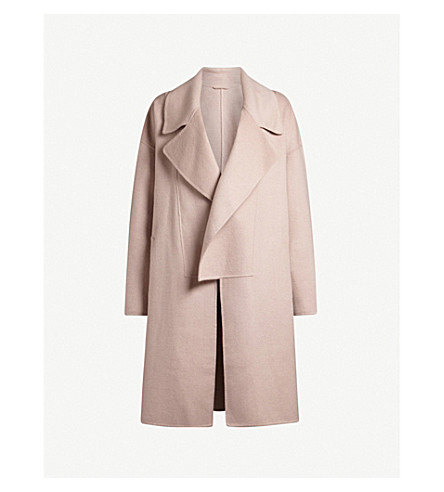 ALLSAINTS Ryder wool-blend coat (Dusty+pink
