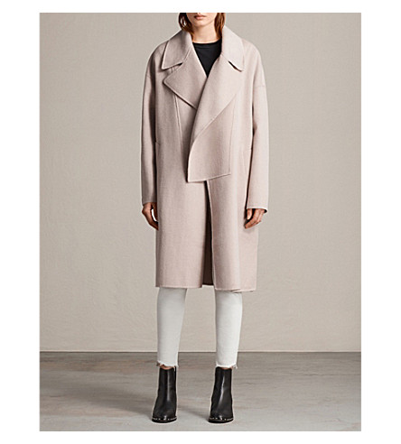 ALLSAINTS Ryder wool-blend coat (Dusty+pink