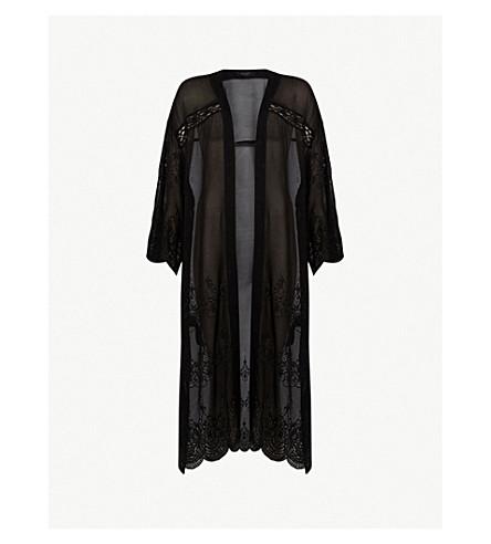 ALLSAINTS 罗斯玛丽百日草蕾丝夹克 (黑色