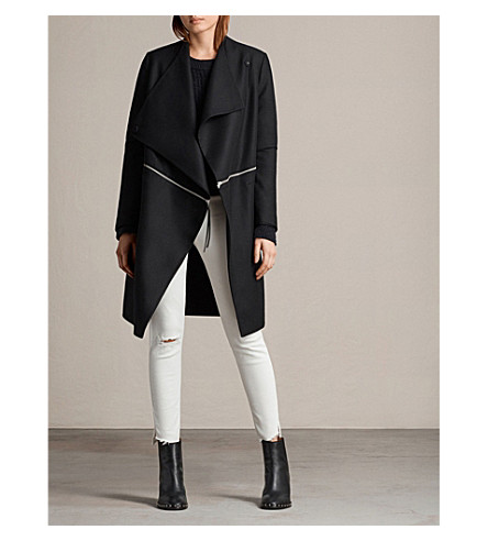 ALLSAINTS Ora wool-blend coat (Black