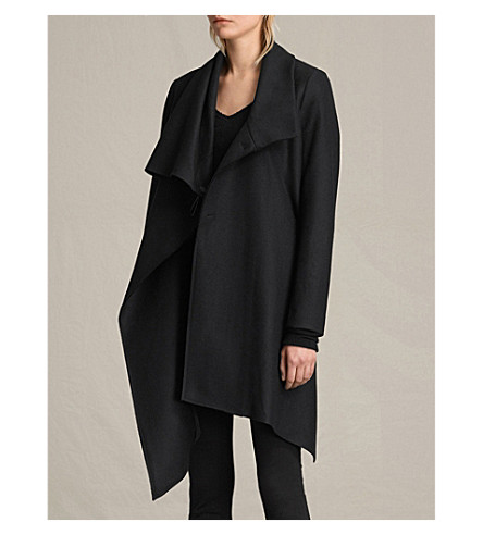 ALLSAINTS City Monument wool-blend coat (Black