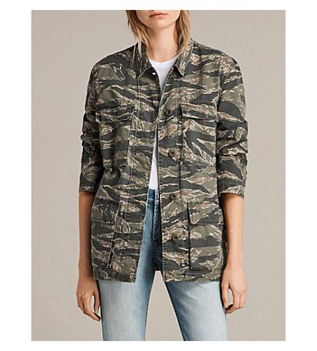 ALLSAINTS Rasko camouflage-print cotton jacket (Camo+khaki+gre